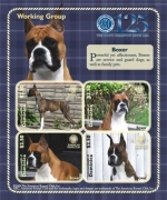 DOGS OF THE AMERICAN KENNEL CLUB-WORKING GROUP BOXER SHEETLET OF 4 X $2.50 Stamp