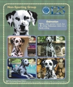DOGS OF THE AMERICAN KENNEL CLUB-WORKING GROUP DALMATIAN SHEETLET OF 4 X $2.50 Stamp