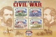 AMERICAN CIVIL WAR 150TH ANNIVERSARY SHEETLET OF 4 X $2.25 Stamp