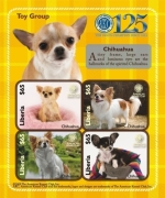 DOGS OF THE AMERICAN KENNEL CLUB-TOY GROUP CHIHUAHUA SHEETLET OF 4 X $65 Stamp