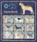 AMERICAN KENNEL CLUB(AKC) DOGS POPULAR BREEDS 125TH ANNIVERSARY LABRADOR RETRIEVER SHEETLET OF 9 X Stamp
