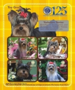 AMERICAN KENNEL CLUB(AKC) DOGS YORKSHIRE TERRIER/TOY GROUP 125TH ANNIVERSARY SHEETLET II OF 4 X $3. Stamp