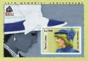 PRINCESS DIANA/10TH MEMORIAL ANNIVERSARY S/S LE7000 Stamp